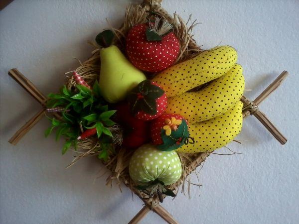 Enfeite De Frutas ~ Enfeite de Parede Peneira com frutas Maria Chique Boutique